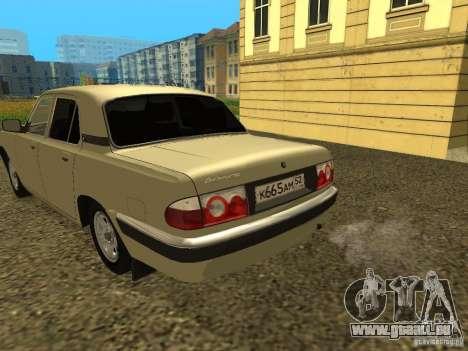 GAZ Volga 31105 restylage pour GTA San Andreas vue de droite