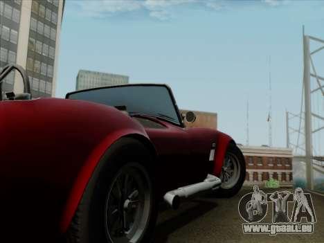 Shelby Cobra 427 pour GTA San Andreas vue de dessous