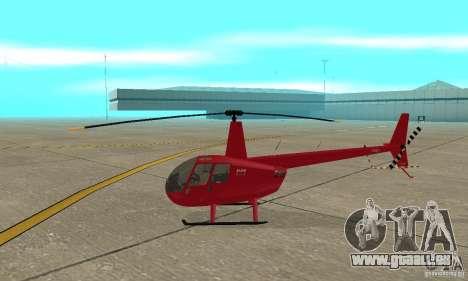 Robinson R44 Raven II NC 1.0 1 de la peau pour GTA San Andreas sur la vue arrière gauche