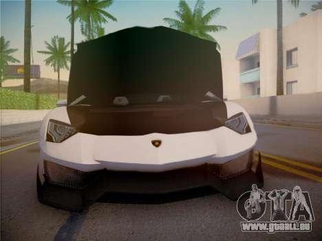 Lamborghini Aventador LP700-4 Roadstar pour GTA San Andreas vue de dessus