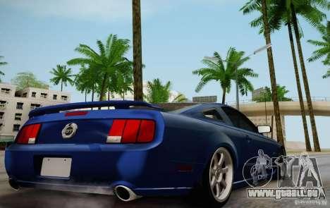 Ford Mustang Twin Turbo für GTA San Andreas Rückansicht