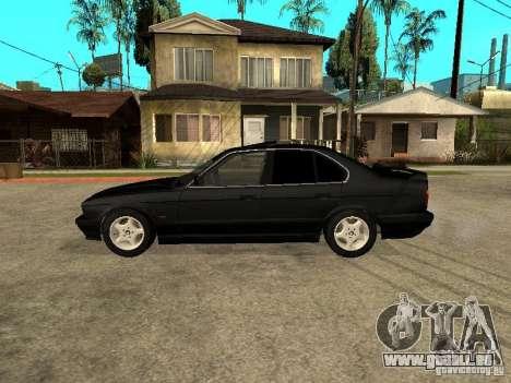 BMW e34 525 pour GTA San Andreas laissé vue