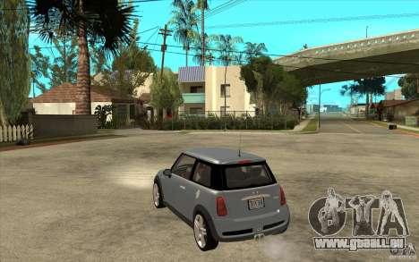 Mini Cooper - Stock pour GTA San Andreas sur la vue arrière gauche