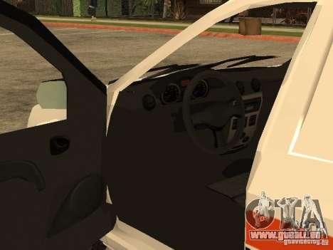 Dacia Logan Ambulanta pour GTA San Andreas vue de dessus