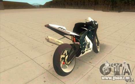Yamaha Copbike Beta pour GTA San Andreas sur la vue arrière gauche