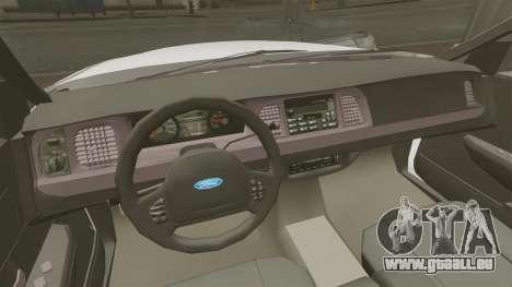 Ford Crown Victoria Unmarked ELS für GTA 4 Innenansicht