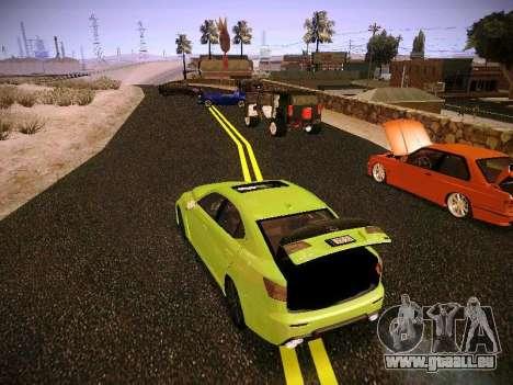 Lexus I SF pour GTA San Andreas vue arrière