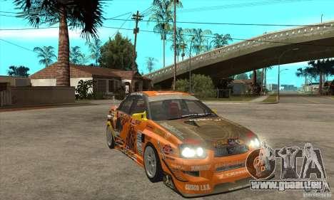 Subaru Impreza D1 WRX Yukes Team Orange für GTA San Andreas Rückansicht