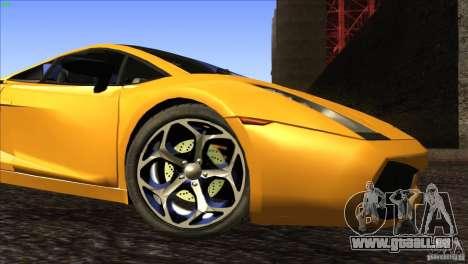 Lamborghini Gallardo SE pour GTA San Andreas vue de dessous