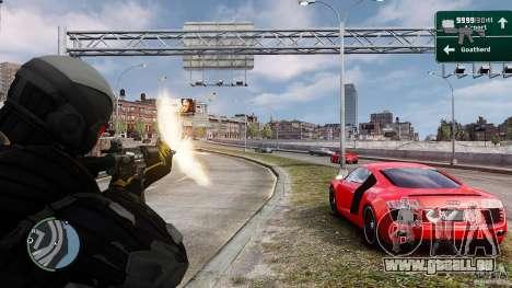 Crysis 2 NanoSuit v4.0 für GTA 4 dritte Screenshot