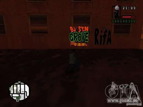 Nouveaux gangs de graffiti pour GTA San Andreas