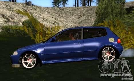 Honda Civic EG5 pour GTA San Andreas laissé vue