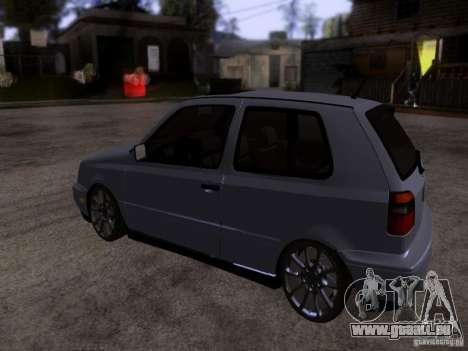 Volkswagen Golf 3 VR6 für GTA San Andreas zurück linke Ansicht