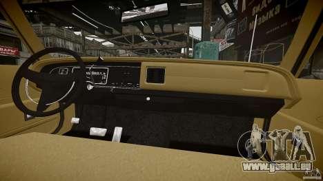 Dodge Monaco 1974 stok rims pour GTA 4 est une vue de dessous
