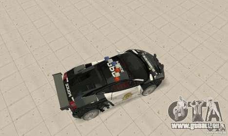 Lamborghini Gallardo Cop V1.0 pour GTA San Andreas sur la vue arrière gauche