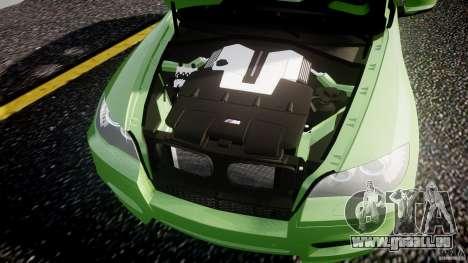 BMW X5 M-Power pour GTA 4 vue de dessus