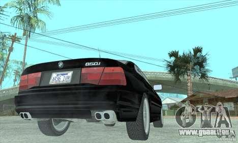 BMW 850i pour GTA San Andreas laissé vue