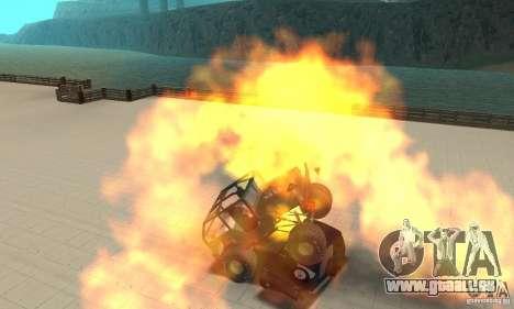 Jeep Willys Rock Crawler pour GTA San Andreas sur la vue arrière gauche