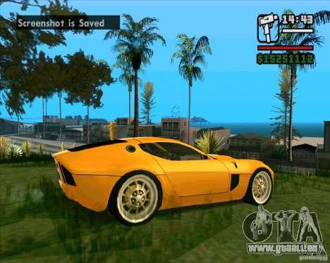 Shelby GR-1 pour GTA San Andreas vue de droite