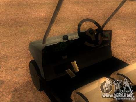 CADDY restylage de v1.0 pour GTA San Andreas sur la vue arrière gauche