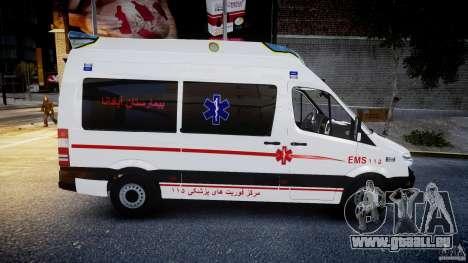 Mercedes-Benz Sprinter Iranian Ambulance [ELS] pour GTA 4 est une vue de l'intérieur