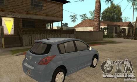 Nissan Tiida pour GTA San Andreas vue de droite