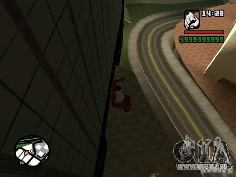 Wallrun endlos läuft an der Wand für GTA San Andreas dritten Screenshot
