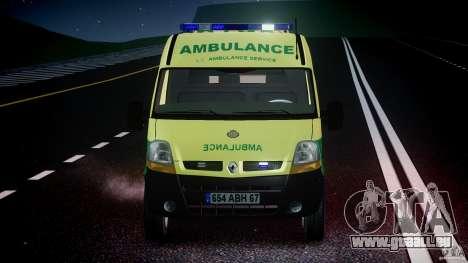 Renault Master 2007 Ambulance Scottish [ELS] für GTA 4 Unteransicht