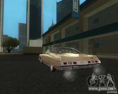 Chevrolet Caprice Classic lowrider pour GTA San Andreas sur la vue arrière gauche