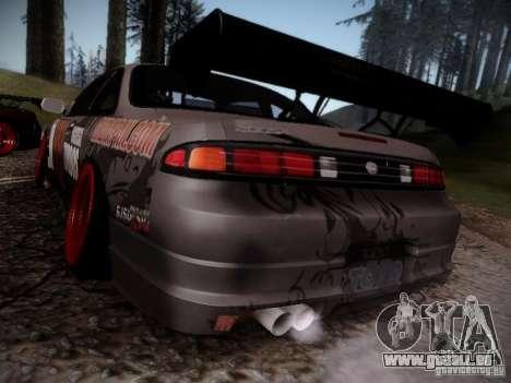 Nissan Silvia S14 Hell pour GTA San Andreas sur la vue arrière gauche
