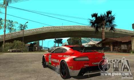 Aston Martin v8 Vantage N400 pour GTA San Andreas vue intérieure
