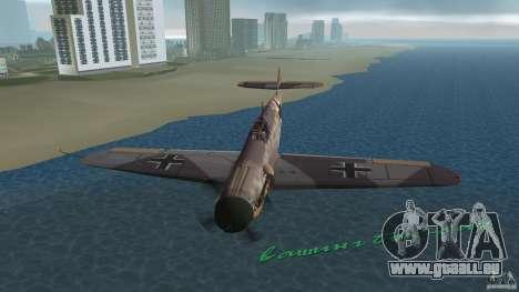 WW2 War Bomber pour GTA Vice City vue latérale