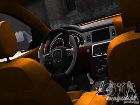 Audi Q7 V12 TDI Quattro Final pour GTA 4 est une vue de l'intérieur