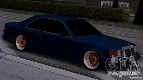 Mercedes-Benz W124 Low Gangster pour GTA San Andreas sur la vue arrière gauche