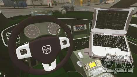 Dodge Charger 2013 Police Code 3 RX2700 v1.1 ELS für GTA 4 Seitenansicht