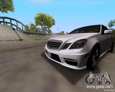 Mercedes-Benz E63 AMG V12 TT Black Revel für GTA San Andreas linke Ansicht