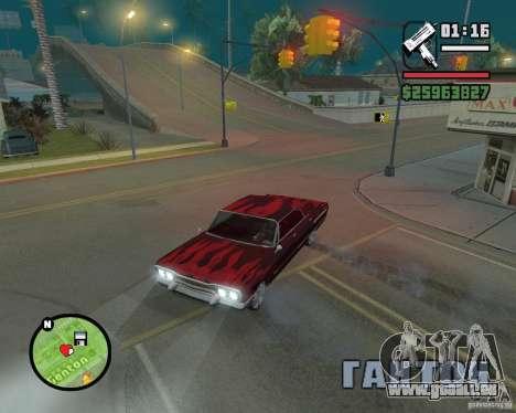 Nouvelles icônes de carte pour GTA San Andreas deuxième écran