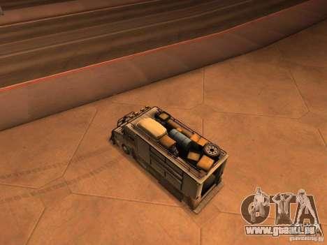 Monster Van pour GTA San Andreas sur la vue arrière gauche