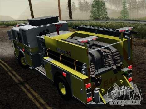 Seagrave Marauder II BCFD Engine 44 pour GTA San Andreas vue arrière