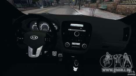 Kia Ceed 2011 pour GTA 4 Vue arrière