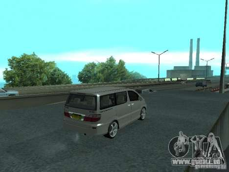 Toyota Alphard G Premium Taxi indonesia für GTA San Andreas zurück linke Ansicht
