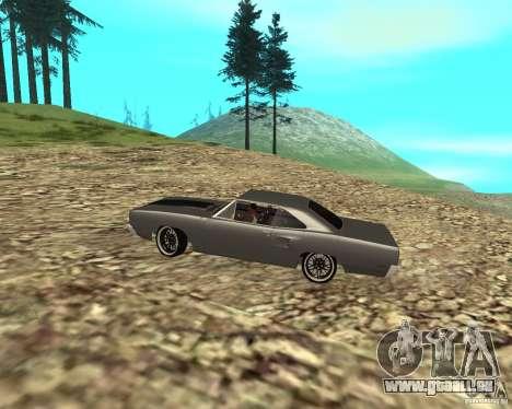 Plymouth Roadrunner 1970 für GTA San Andreas Rückansicht