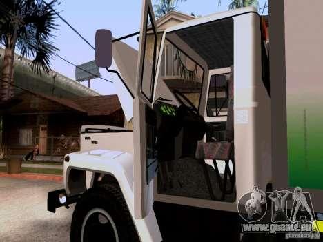 GAZ 3309 für GTA San Andreas Rückansicht