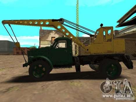 GAZ 51 grue mobile pour GTA San Andreas laissé vue