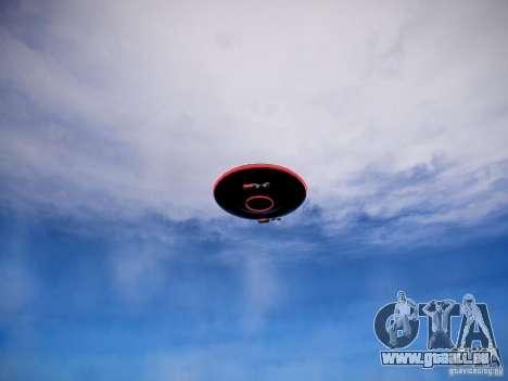 UFO-die erschreckende für GTA 4 hinten links Ansicht