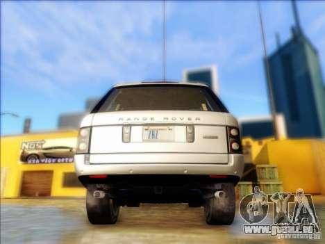 Land-Rover Range Rover Supercharged Series III pour GTA San Andreas sur la vue arrière gauche