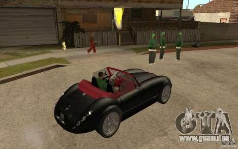 Wiesmann Roadster MF3 pour GTA San Andreas vue de droite