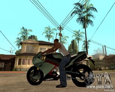 Yamaha R1 2010 pour GTA San Andreas laissé vue
