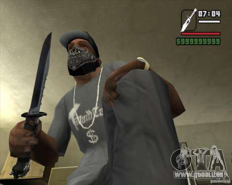 Le couteau de la stalker no 4 pour GTA San Andreas deuxième écran