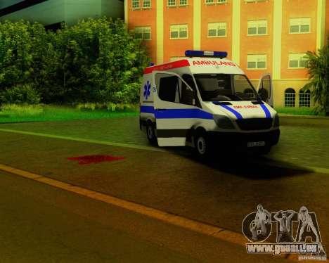 Mercedes-Benz Sprinter Baku Ambulans für GTA San Andreas Seitenansicht